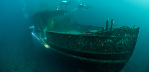 Wreck dive on MS Nesodtangen